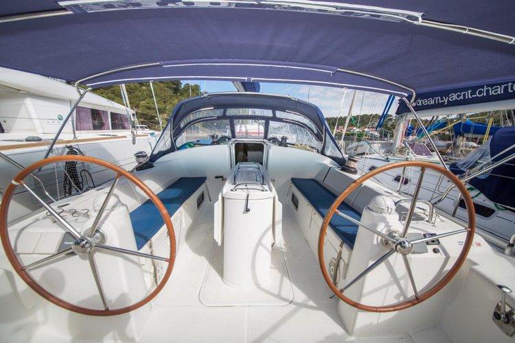 Discover Sibenik surroundings on this 52 Harmony boat