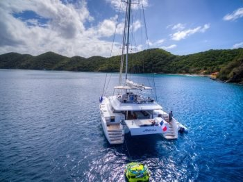 Have fun in Pristine water in BVIs aboard Lagoon 560
