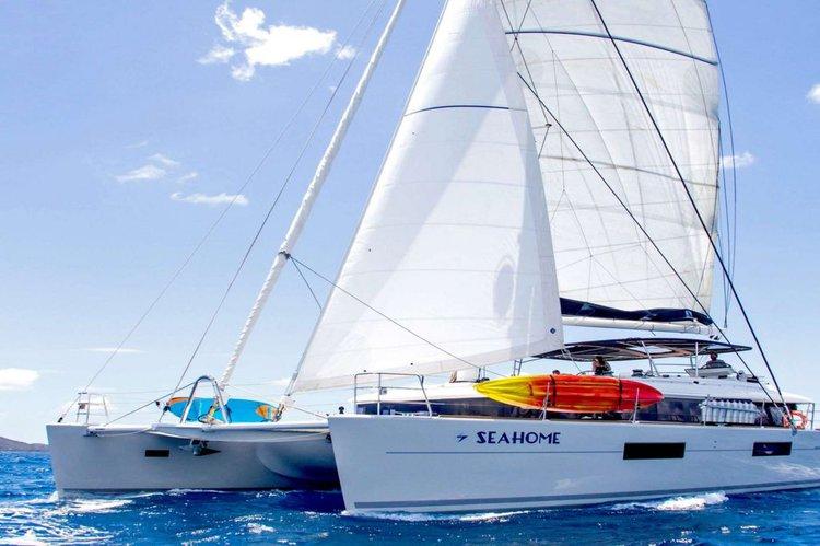 Enjoy sunshine in British Virgin Islands aboard Seahome 62