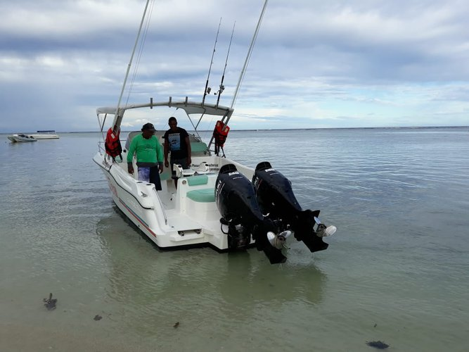 Discover Mauritius in style boating on this superb 23' motor boat rental