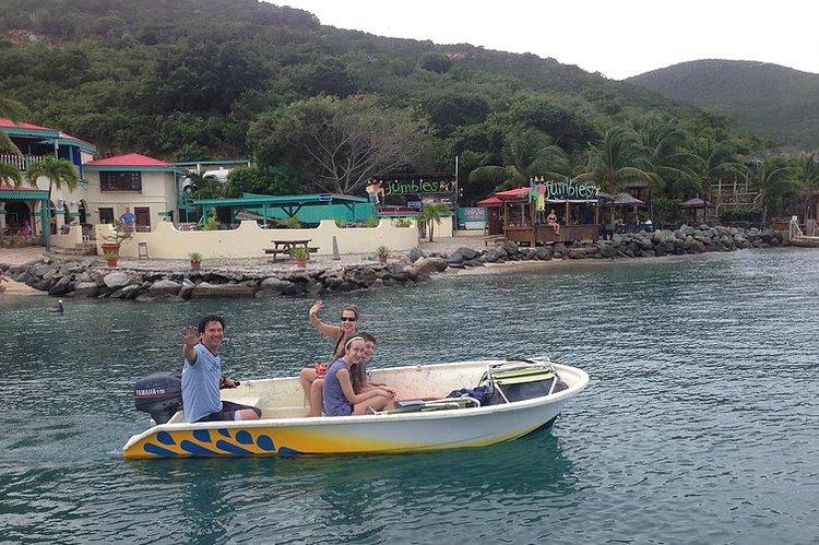 Explore Virgin Gorda aboard this 13' motor boat