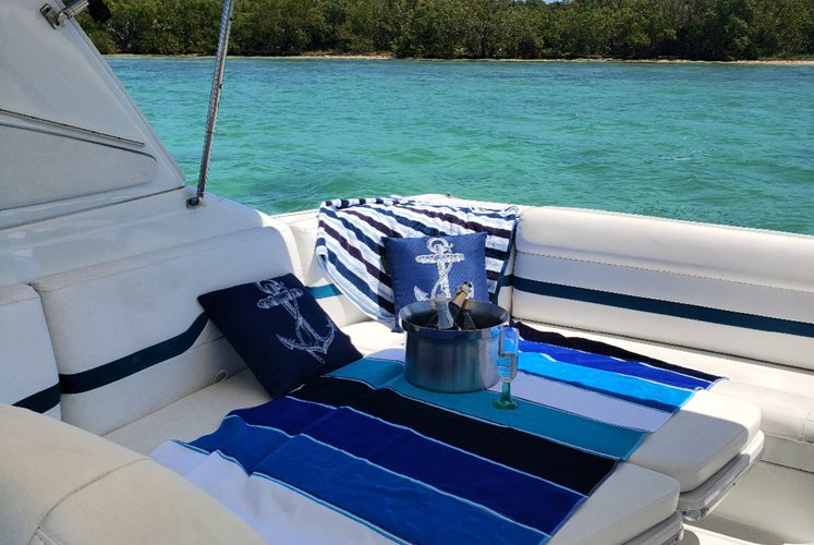 Discover Homestead surroundings on this 330 SunSport Formula boat