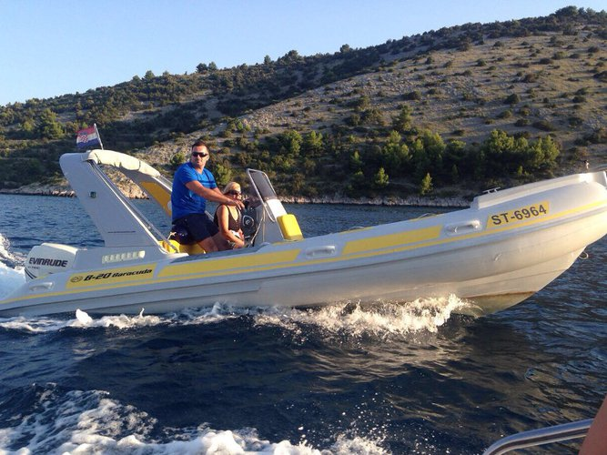 Discover Trogir in style boating on this motor boat rental