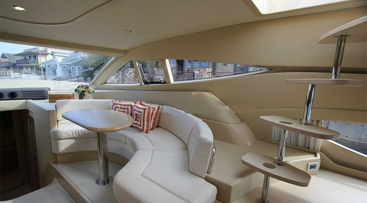 Up to 17 persons can enjoy a ride on this Motor yacht boat