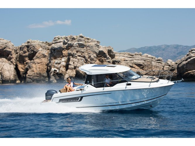 Charter this amazing Jeanneau Merry Fisher 795 in Trogir, HR