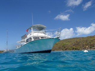 Big , comfortable  2 engine motor boat