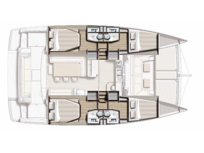 Enjoy luxury and comfort on this Bali Catamarans Bali 4.1 in Keramoti