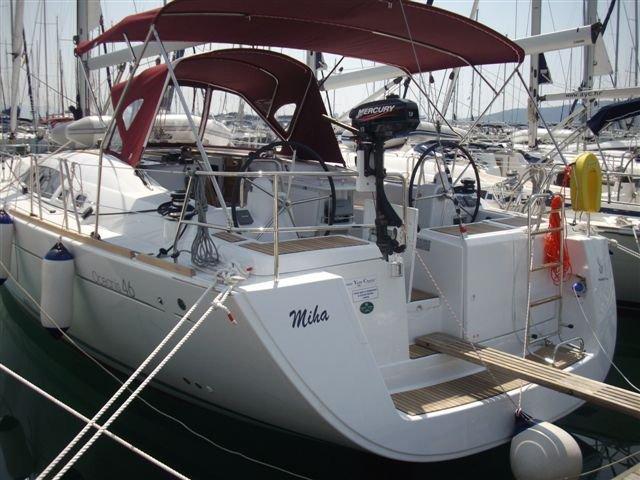 Enjoy luxury and comfort on this Beneteau Oceanis 46 in Biograd