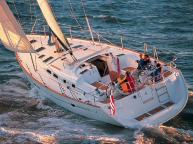 Get on the water and enjoy Volos in style on our Beneteau Cyclades 50.5
