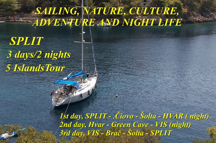 Two days private sailing tours between islands in Croatia - Split