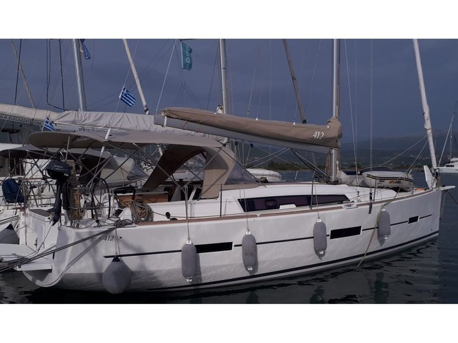 Jump aboard this beautiful Dufour Yachts Dufour 412 Grand large