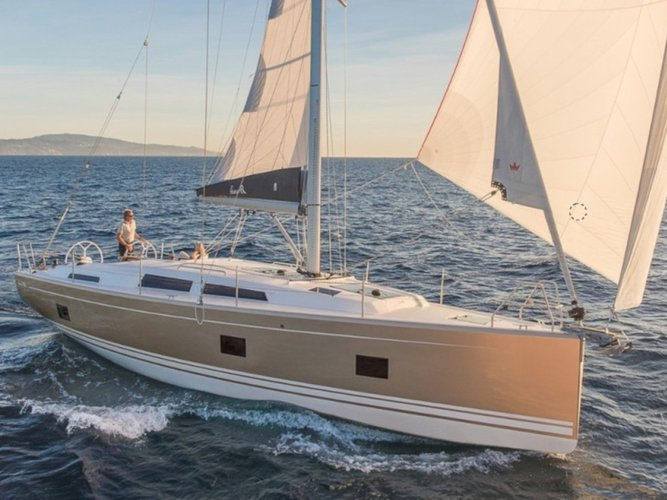 All you need to do is relax and have fun aboard the Hanse Yachts Hanse 418