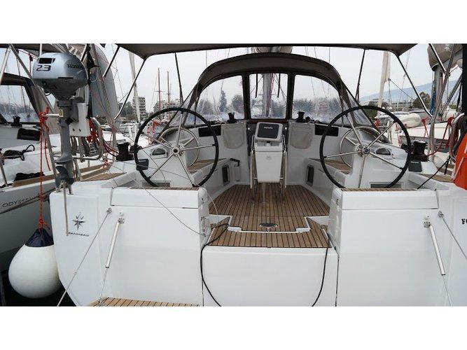 Rent this Jeanneau Sun Odyssey 449 for a true nautical adventure
