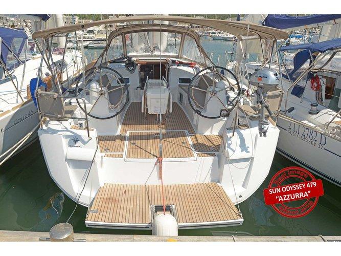Experience Puntone - Follonica, IT on board this amazing Jeanneau Sun Odyssey 479