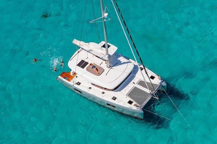 Catamaran boat rental in Palm Cay Marina, Bahamas