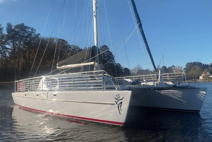 Up to 34 persons can enjoy a ride on this Catamaran boat