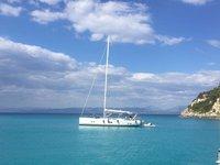 Sail the beautiful waters of Corfu on this cozy Hanse Yachts Hanse 575