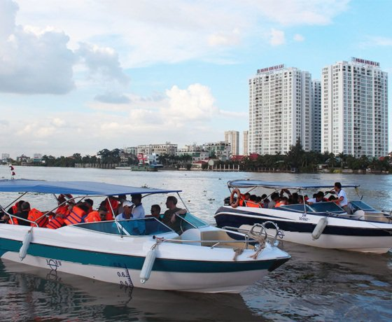 Enjoy luxury and comfort on this Ho Chi Minh motor boat rental