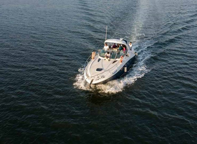 Climb aboard this motor boat for a great experience!