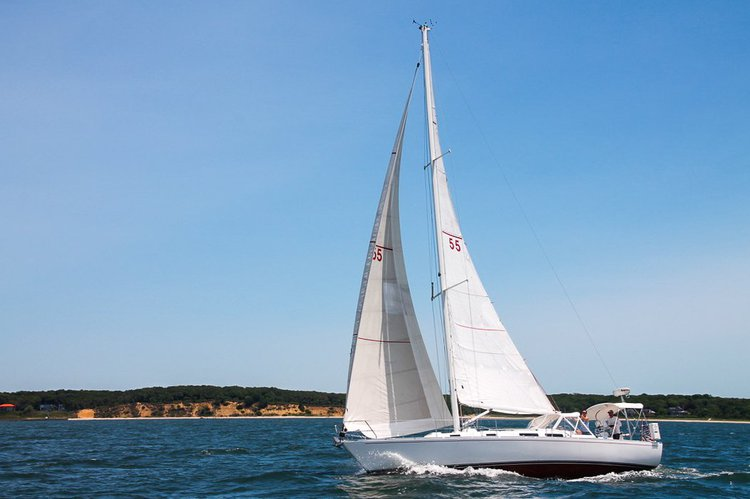 A beautiful 42' sailing yacht with captain