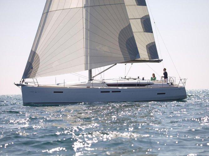 Enjoy luxury and comfort on this Jeanneau Sun Odyssey 449 in Corfu