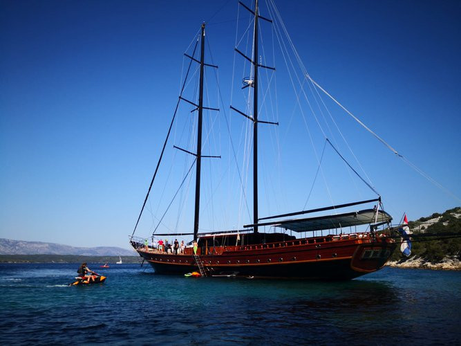 Croatian luxury charter ship Stella Maris