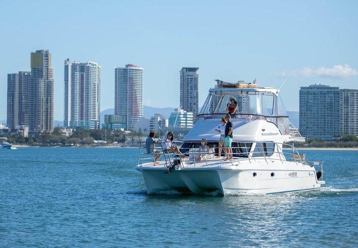 Go on a nautical adventure on this elegant catamaran