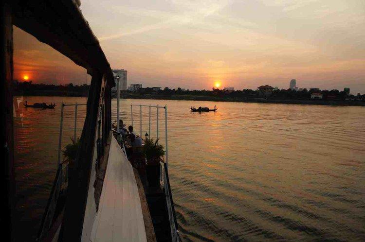 Experience Phnom Penh. on board this elegant meg yacht boat