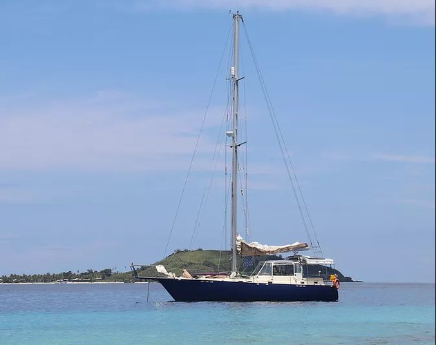 Charter this amazing sail boat in Fiji