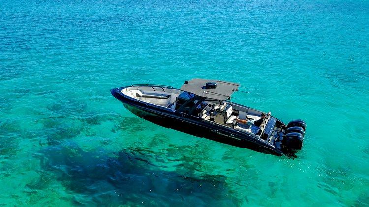 Performance boat rental in Compass Point marina, U.S. Virgin Islands