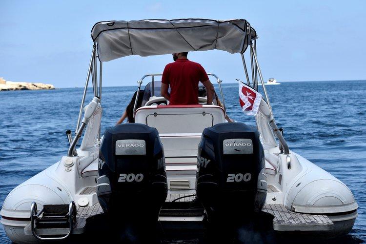 Rigid inflatable boat for rent in Pieta