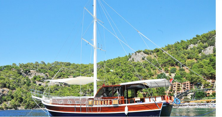 Sail away aboard this beautiful Gullet