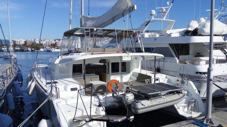 Catamaran boat rental in Alimos Marina, Greece