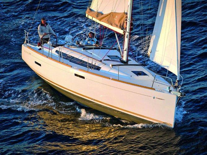 Enjoy luxury and comfort on this Jeanneau Sun Odyssey 389 in Sukošan