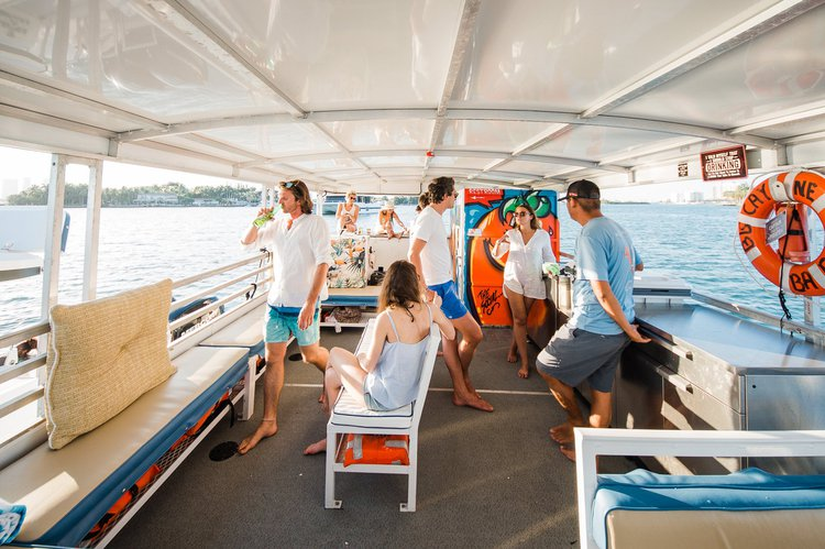 Have Fun & Explore Miami's Bay Aboard Our Boat! 45Passengers & Floats included!