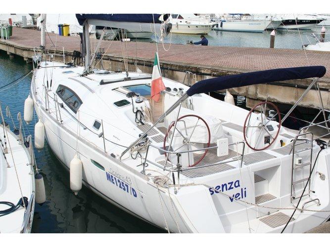Sail Furnari, IT waters on a beautiful Beneteau Oceanis 43