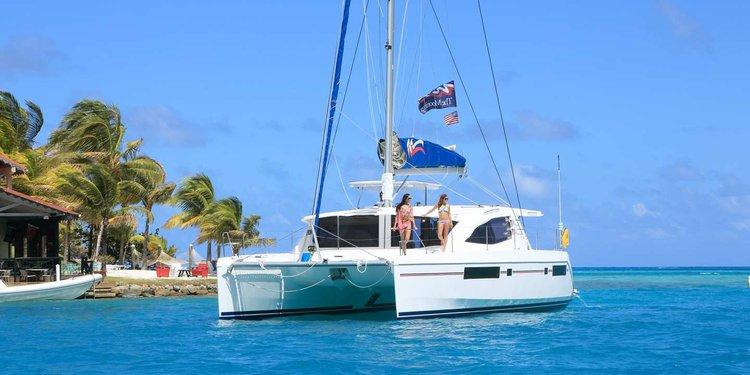 Catamaran boat rental in port louis marina, Grenada