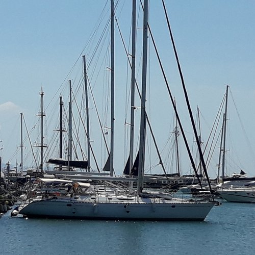 Top quality, high-performance luxurious sailing yacht.