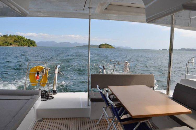 Catamaran boat rental in Angra dos Reis, Brazil
