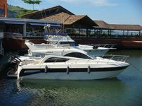 Explore breathtaking views around Brazil aboard this lovely motor yacht