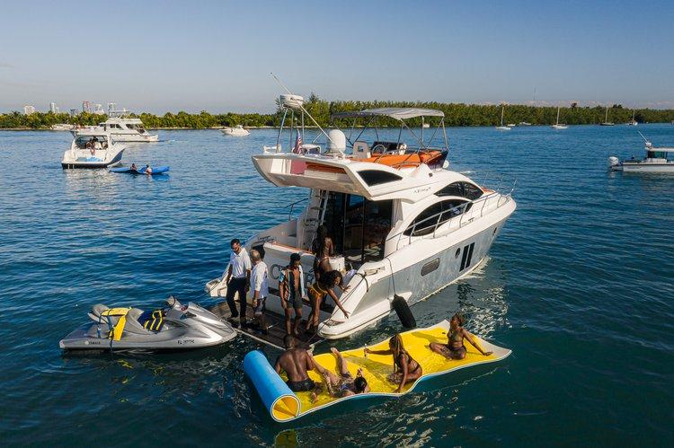 Flybridge boat rental in Pelican Harbor Marina, FL