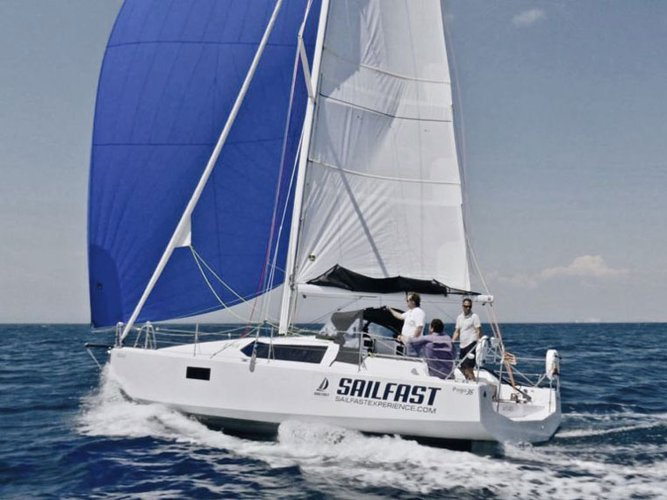 Discover Lanzarote in style boating on this sailboat rental