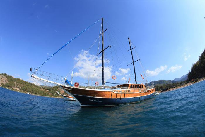 Sail the beautiful waters of Turkey on this 82 ft gulet