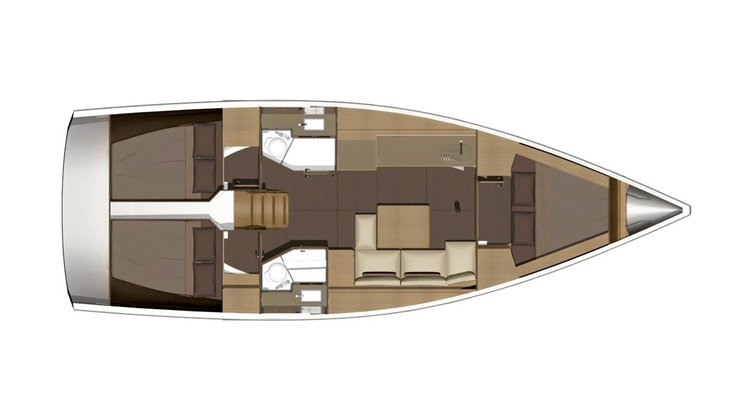 Dufour boat for rent in Sea Cow's Bay