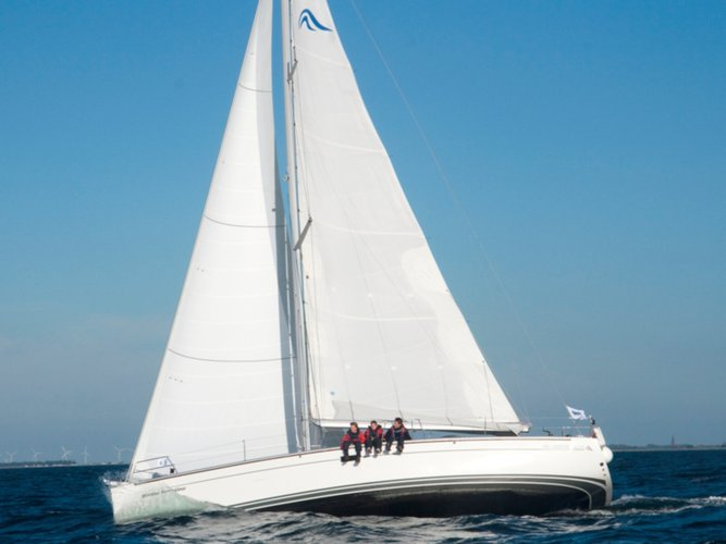 Enjoy Stralsund, DE to the fullest on our comfortable Hanse Yachts Hanse 430e