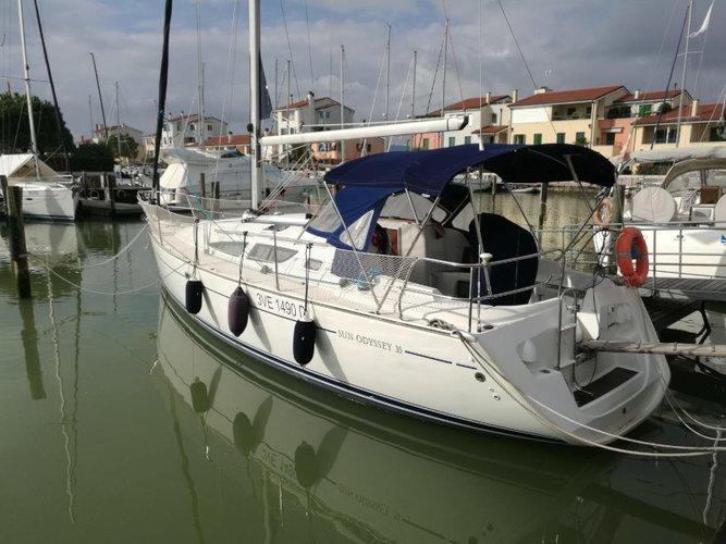 Sail Caorle , IT waters on a beautiful Jeanneau Sun Odyssey 35