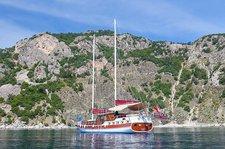 Take this 69 ft gulet to explore the beautiful Turkish coast