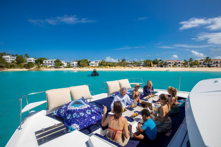 Boating is fun with a Catamaran in Simpson Bay