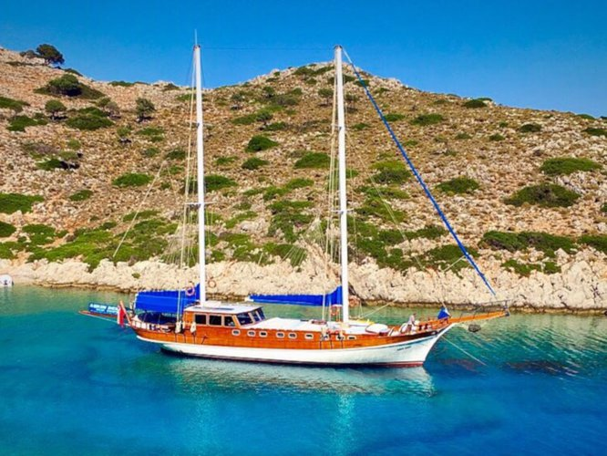 Hop aboard this amazing sailboat rental in Bodrum!