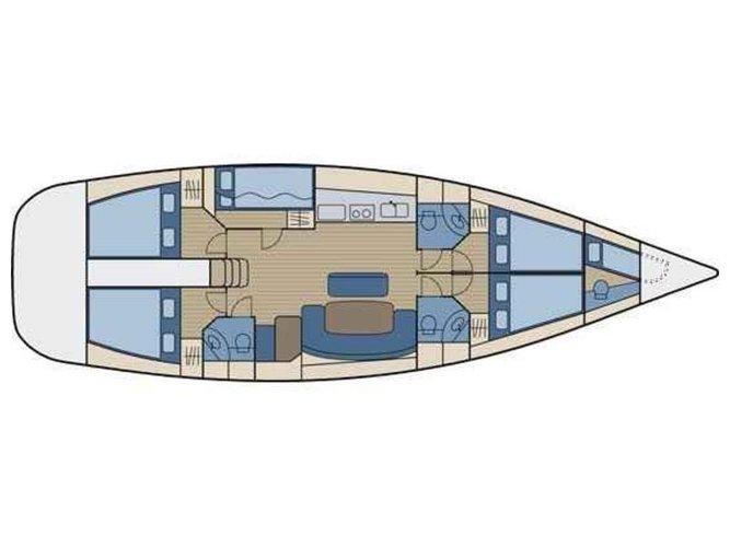 Monohull boat rental in Port of Lefkada, Greece